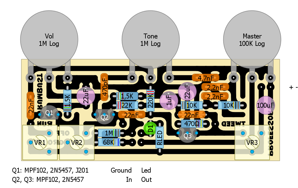 Layout for Professor Tweed circuit